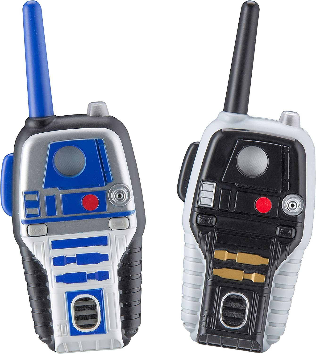 Star Wars R2D2 and R2Q5 FRS Walkie Talkies for Kids with Lights and Sounds Kid Friendly Easy to Use