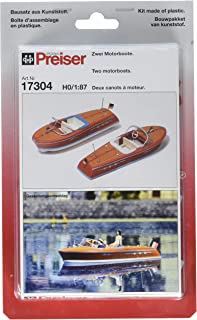 Preiser 17304 Boats Speed Boat Package(2) HO Scale Vehicles Scenery Set