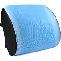 Tdbest Memory Foam Lumbar Support Back Cushion with 3D Mesh Cover (Blue)