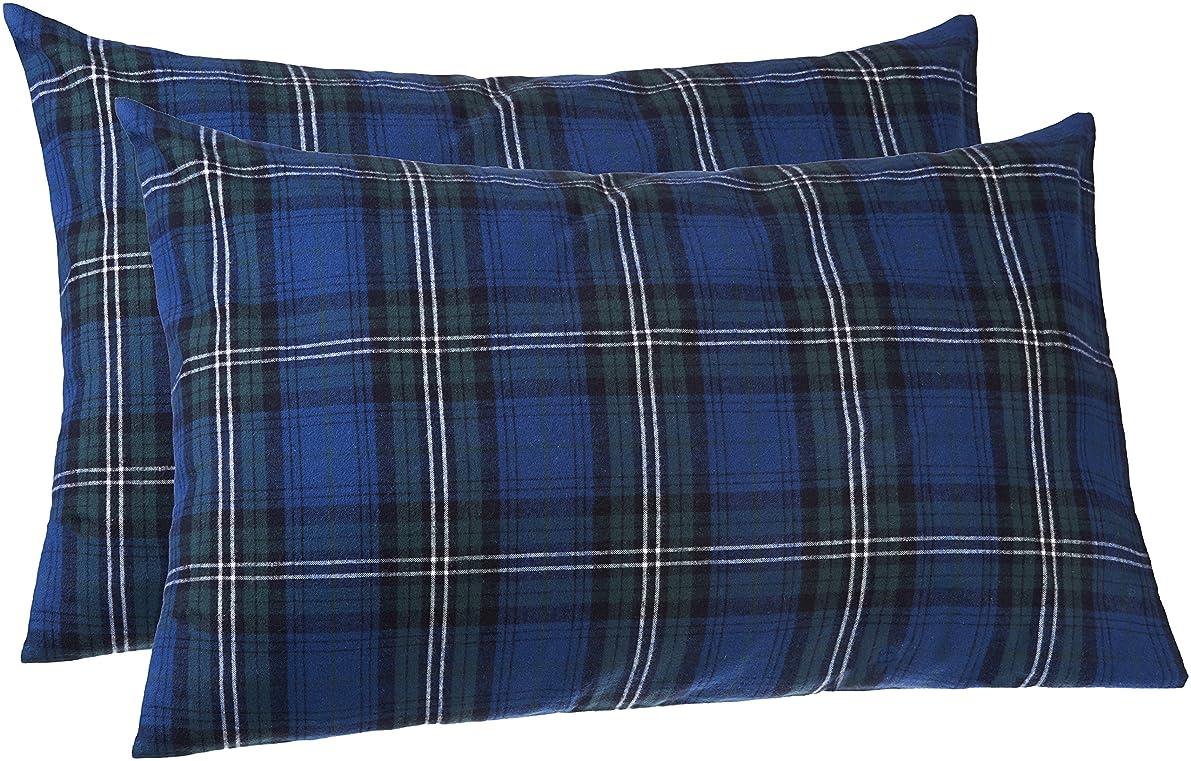 Pinzon 160 Gram Plaid Flannel Pillowcases - Standard, Blackwatch Plaid - PZ-PLFLAN-BWP-SPC