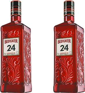Beefeater Gin 24 2er Set, London Dry Gin, Schnaps, Spirituose, Alkohol, Flasche, 45%, 2 x 700 ml