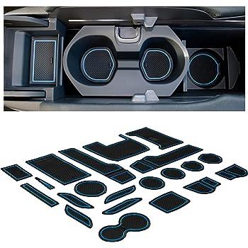 CupHolderHero for Volkswagen VW Tiguan 2018-2020 Custom Liners Accessories Premium Cup Holder Blue Trim Console and Door Pocket Inserts 16-pc Set