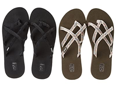 Teva Olowahu 2-Pack (Mbob/Waterfall Antique Gold) Women
