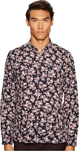 The Kooples - Classic Collar Print Shirt with A Hidden Placket