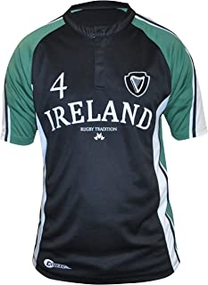 Irish Rugby Shirt, Moisture Managment Fabric, Black and Green