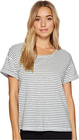 Double Face Knit Short Sleeve Top