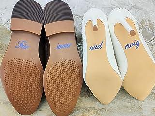 """Schuhsticker Set""""Für immer und ewig"""" - 13 Farben wählbar - Hochzeit Schuhaufkleber Farbe wählbar - Aufkleber für Schuhe"""