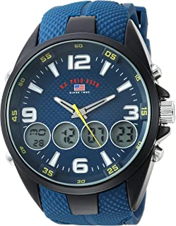 U.S. Polo Assn. Men's Analog-Quartz Watch with Rubber Strap, Blue, 27 (Model: US9598)