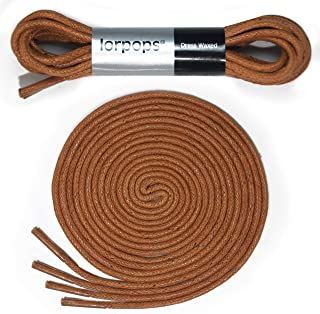 lorpops Round Waxed Dress Shoes Shoelaces Boots (2 pairs) 6 colors 23.5-47 in length 1/8 in diameter