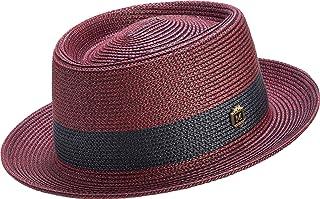 MONTIQUE Men s Two Tone Braided Pork Pie Hat ... af602849c5c7