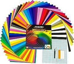 RYVANEL® 64 hojas de vinilo autoadhesivo (12''x 12'') + 10 hojas de transferencia + Juego completo de herramientas de esca...