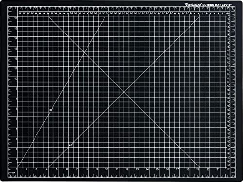 "Dahle Vantage 10672 Self-Healing Cutting Mat, 18""x24"", 1/2"" Grid, 5 Layers for Max Healing, Perfect for Crafts & Sewi..."