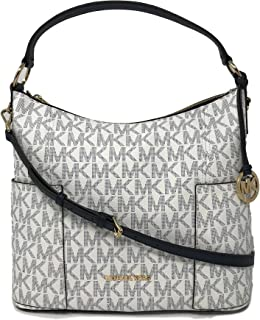 Michael Kors Anita Signature PVC Large Convertible Shoulder Bag in Navy/White