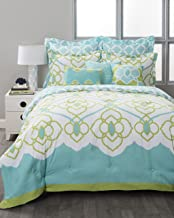 stylehouse Sahara Aqua 8 Piece Reversible Comforter Set, King