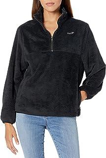 Volcom Women's Pheelin Phuzzy Quarter Zip Pullover Sweater