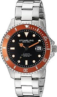 Stuhrling Original Men's 792.03 Aquadiver Analog Display Automatic Self Wind Silver Watch