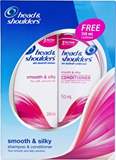 Head & Shoulders Smooth and Silky Shampoo + Conditioner Bundle Pack, 350 ml