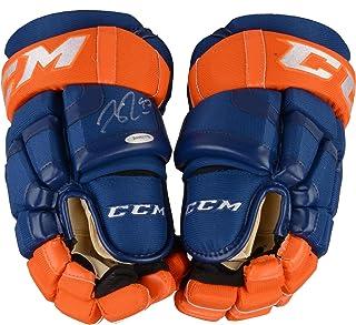 fac90d6b9d2 Connor McDavid Edmonton Oilers Autographed CCM Game Model Hockey Gloves - Upper  Deck - Fanatics Authentic