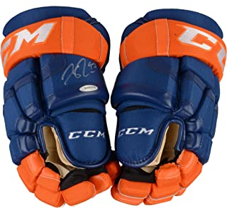 Connor McDavid Edmonton Oilers Autographed CCM Game Model Hockey Gloves - Upper Deck - Fanatics Authentic Certified