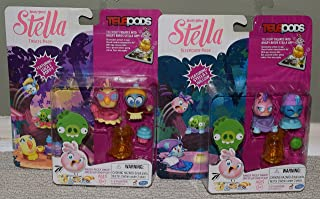 Angry Birds Stella Telepods Sleepover & Treats Packs Bundle Willow Luca Poppy
