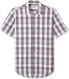 mens short sleeve check shirts