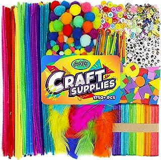 Arts & Crafts Supplies for Kids, School Crafting Projects for Preschool Pre K & Kindergarten, Bulk DIY Set for Busy Homesc...