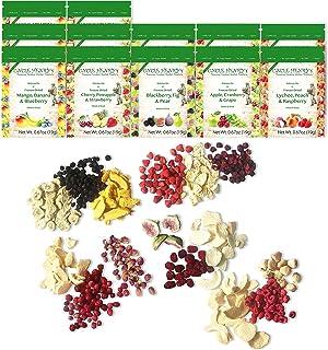 Freeze Dried Fruit: 15 Delicious Crispy Fruits Strawberry, Blueberry, Raspberry, Banana, Mango & More. 226.8g (8oz) 1/2 Po...