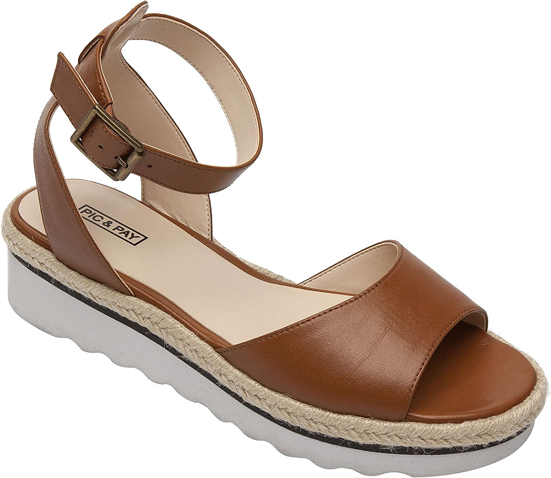 Pic - och pay CASAKvinnlig bekväm plattform Ankle Ankle Ankle Strap Läder Sport Sandal Cognac läder 7M  no.1 online