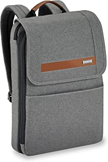 Kinzie Street-Slim Expandable Backpack, Grey, One Size