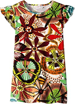 Passion Flower Printed Dress (Toddler/Little Kids)