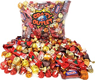 CrazyOutlet Pack - Lindor Lindt, Nestle Crunch, Kit Kat, Reese's, Kisses, Deluxe, Rolo, Thanksgiving Chocolate Candy Assortment, Bulk Holiday Candies 3 Lbs