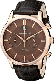 Men's 08001 37R BRIR Classic Automatic Chronograph Analog Display Swiss Automatic Brown Watch