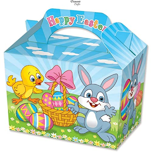 10 Farm Yard Animals Boxes ~ Picnic Carry Meal Food Loot Birthday Party Bag Box
