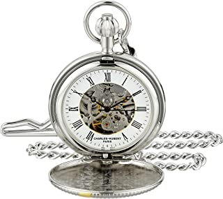 Charles-Hubert, Paris 3995 Classic Collection Analog Display Mechanical Hand Wind Pocket Watch