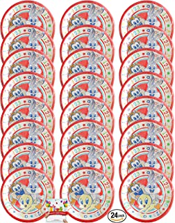 Looney Tunes Party Supplies Birthday Plates Bundle Serves 24 Guests!