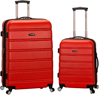 Rockland Melbourne Hardside Expandable Spinner Wheel Luggage, Red, 2-Piece Set (20/28)