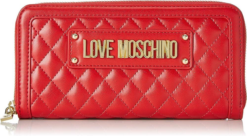 Love moschino quilted portafogli porta carte di credito in pelle sintetica JC5640PP07KA
