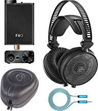 Audio-Technica ATH-R70x Open Back Reference Headphones Bundle with SLAPPA SL-HP-07 Hardbody PRO Headphone Case, FiiO E10K USB DAC Amp (Black), and Blucoil 6-FT Headphone Extension Cable (3.5mm)