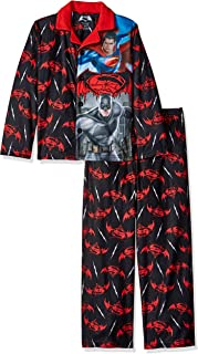 DC Comics Boys' Batman Vs Superman Sleepwear Coat Set