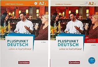 Pluspunkt Deutsch A2: Teilband 1 - Allgemeine Ausgabe - Arbeitsbuch und Kursbuch: Leben in Deutschland. 120771-7 und 120574-4 im Paket