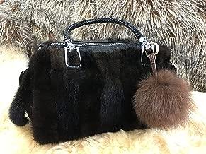 Hima Real Fox Fur Pom Pom for Car Key Ring Tote Bag Pendant Charm