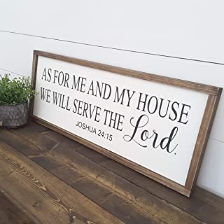 CELYCASY As for Me and My House We Will Serve The Lord Sign | Bible Verse Christian Wall Art | Bible Scripture Wood Sign