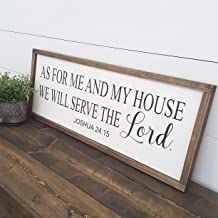 CELYCASY As for Me and My House We Will Serve The Lord Sign   Bible Verse Christian Wall Art   Bible Scripture Wood Sign