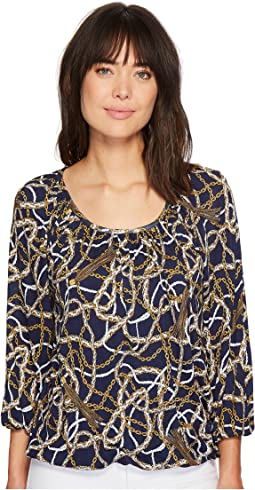 MICHAEL Michael Kors Scattered Tassel Scoop Neck Top