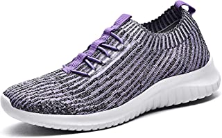 TIOSEBON Women's Slip On Walking Shoes Lightweight Casual...