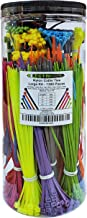 Electriduct Nylon Cable Tie Kit - 1300 Zip Ties - Multi Color (Blue, Red, Green, Yellow, Fuchsia, Orange, Gray, Purple) - Assorted Lengths 4