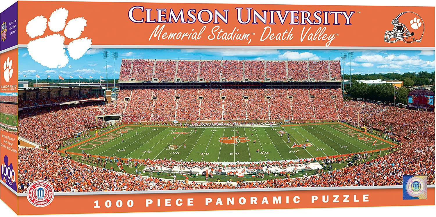 Large YouTheFan NCAA Clemson Tigers Retro Series Puzzle Team Colors