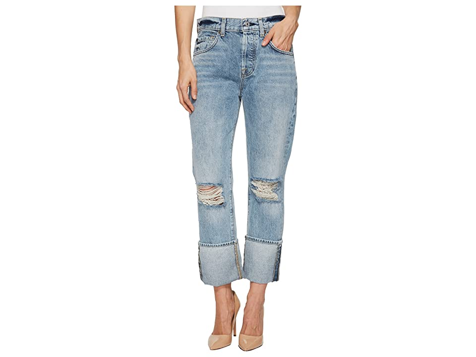 7 For All Mankind Rickie Boyfriend w/ Wide Cuff Destroy in Mineral Desert Springs 3 (Mineral Desert Springs 3) Women's Jeans
