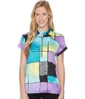 Jamie Sadock - Crunchy Glo Print Short Sleeve Top