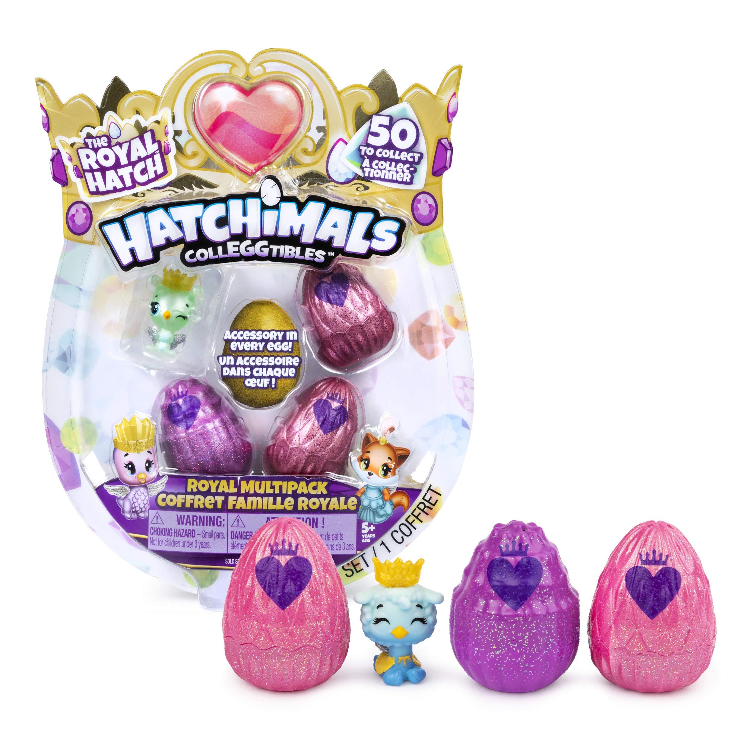 해치멀 콜레그터블 로얄 멀티팩 Hatchimals Colleggtibles, Royal Multipack with 4 & Accessories, For Kids Aged 5 & Up